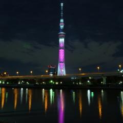 ピンクのスカイツリー(2012/10/01)