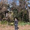 兄と我が家の庭にて