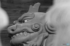 中山寺獅子