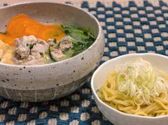 東京ひとりめし:豚肉水菜白湯スープ鍋