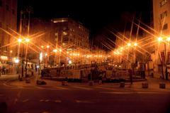 温泉街の夜