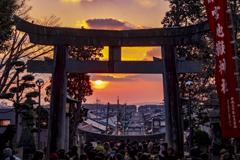 宮地嶽神社の夕暮