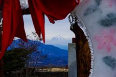 富士山を垣間見