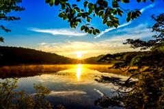 池の朝焼け#4