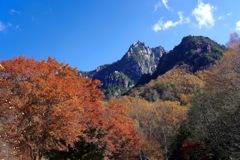 紅葉の瑞牆山2