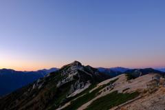 夕映えの燕岳
