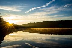 白駒池の朝焼け#2