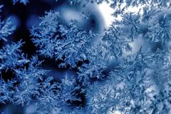 凍てつくフロントガラス