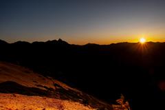 夕陽のスポット