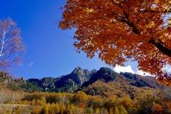 紅葉の瑞牆山1