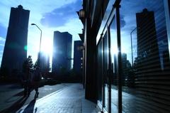 Yokohama reflection blue