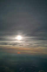 大空の夕暮れ