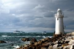 冷たい風 伊良湖岬灯台