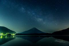 精進湖の夜