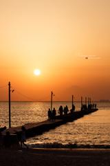 夕暮れ桟橋