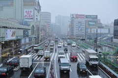 雪降り新宿
