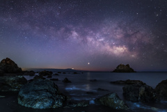 海辺の銀河
