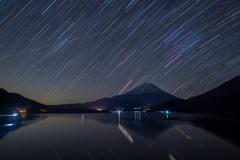 星流れる本栖湖