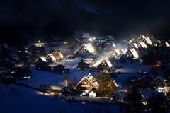 白川郷冬景色