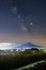 富士に昇る星