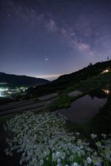 棚田に昇る天の川Ⅱ