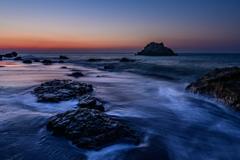 海辺の夜明け