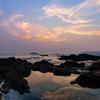 海辺の夕暮れ