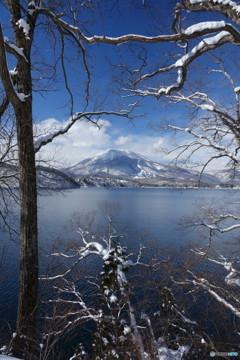 黒姫山冬景