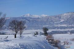 飯山からの妙高山