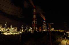 工場地帯のイルミネーション