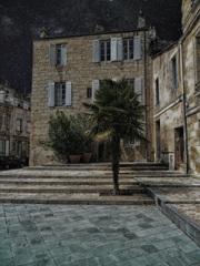 フランスボルドーの星空の夜