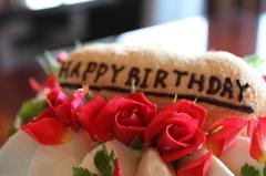 ケーキを飾るベルローズ*