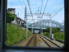 名神の下をくぐる阪急京都線