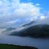 朝霧の里山