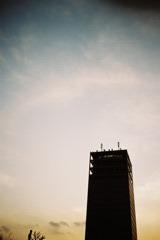 中野の夕焼け