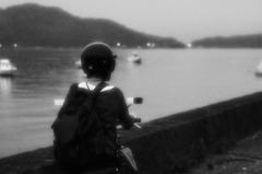 漁村を走る
