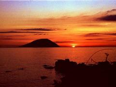志賀島 落陽