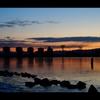 防潮水門の朝