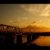 夜明け・鉄橋