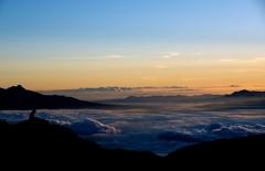 カメラマンと雲海