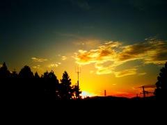 とある日の夕日。