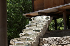 stairs made from glass
