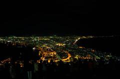 夜景を眺める人々
