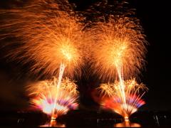 笠松川祭り 終盤