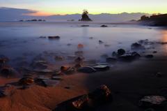 雨晴海岸 夜明け前