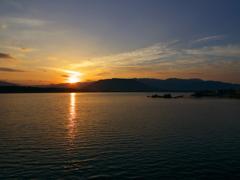松浦川の夜明け
