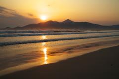 虹の松原海岸の朝