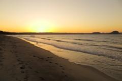 浜玉海岸の夕暮れ