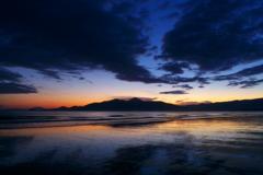 東の浜海岸 夜明け前