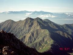 赤岳山頂からの風景